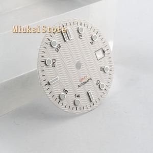 Image 3 - 1PCS 31.5mm סטרילי לבן שעון חיוג Fit ETA 2836/2824 DG2813/3804 Miyota 8215 821A 8205 אוטומטי תנועה p933 N
