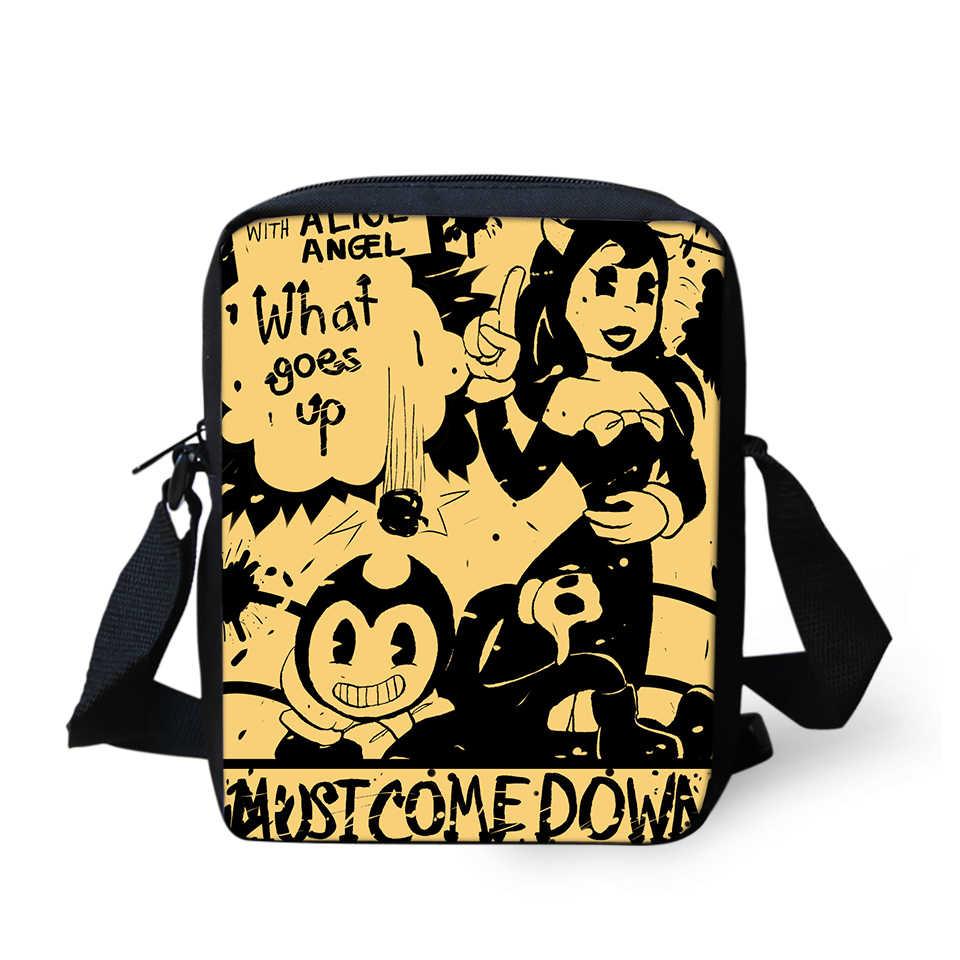 漫画 3Dアニメデザイン女性のメッセンジャーバッグ曲げやすいとインク機ガールズクロスボディバッグ女の子ミニフラップポケットバッグ