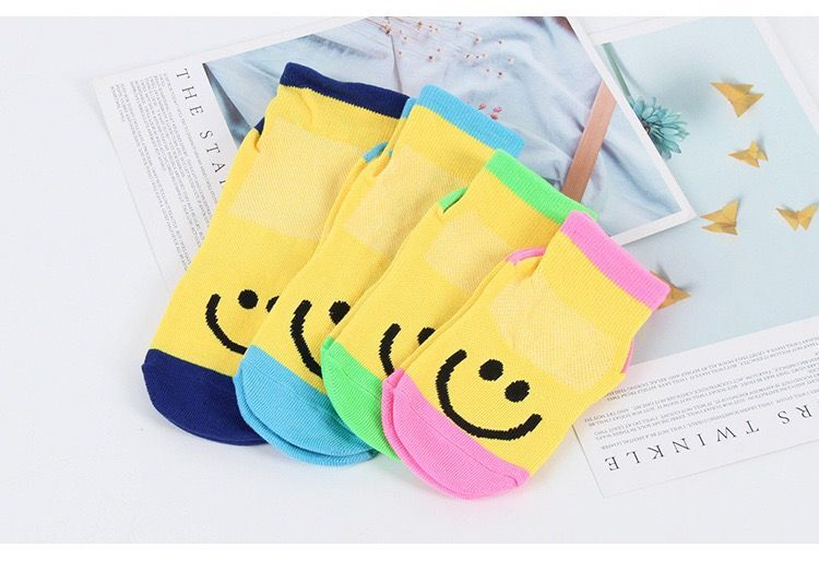 Autumn/Winter/Spring/Summer Thin And Breathable Non-slip Floor Socks Boy and Girl Towel Socks Home Socks Cotton Candy Color 3