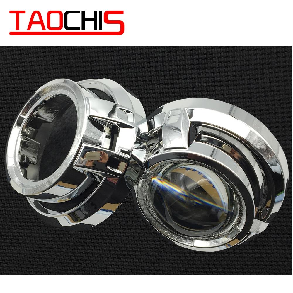TAOCHIS Car Styling Automobili Sartie Maschera per il 3.0 pollici HELLA 3R G5 3/5 Koito Q5 Bi Xenon Lente Del Proiettore Retrofit testa di Luce