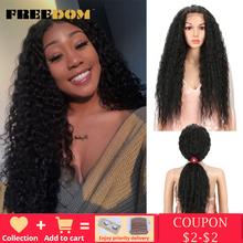 FREEDOM syntetyczne koronki przodu peruki 40 Cal wieczerza długie głębokie Natural Wave Ombre Blond 613 kolor włosów peruki dla czarnych kobiety moda