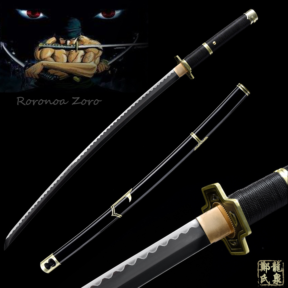 Hand Forged 1045 Carbon Steel For Japanese Anime One Piece Yubashiri Katana Full Tang Sharp Roronoa Zoro Sword