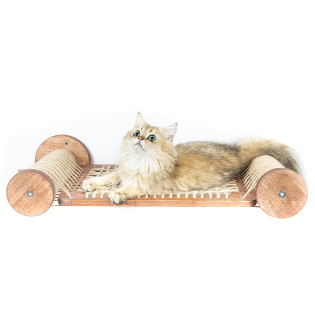 Фото новый плавающий кот гамак кровать дом сизаль когтеточка кошка
