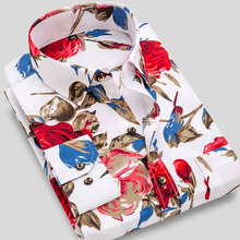 Casual Shirt Long-Sleeve Printed Thin Floral Men's Summer New-Fashion Standard Fit Holiday