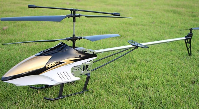 High Quality Big Remote Control Aircraft Charge RC Helicopter 4ch Drop-Resistant Flight About 10 Minutes Battery With LED Light