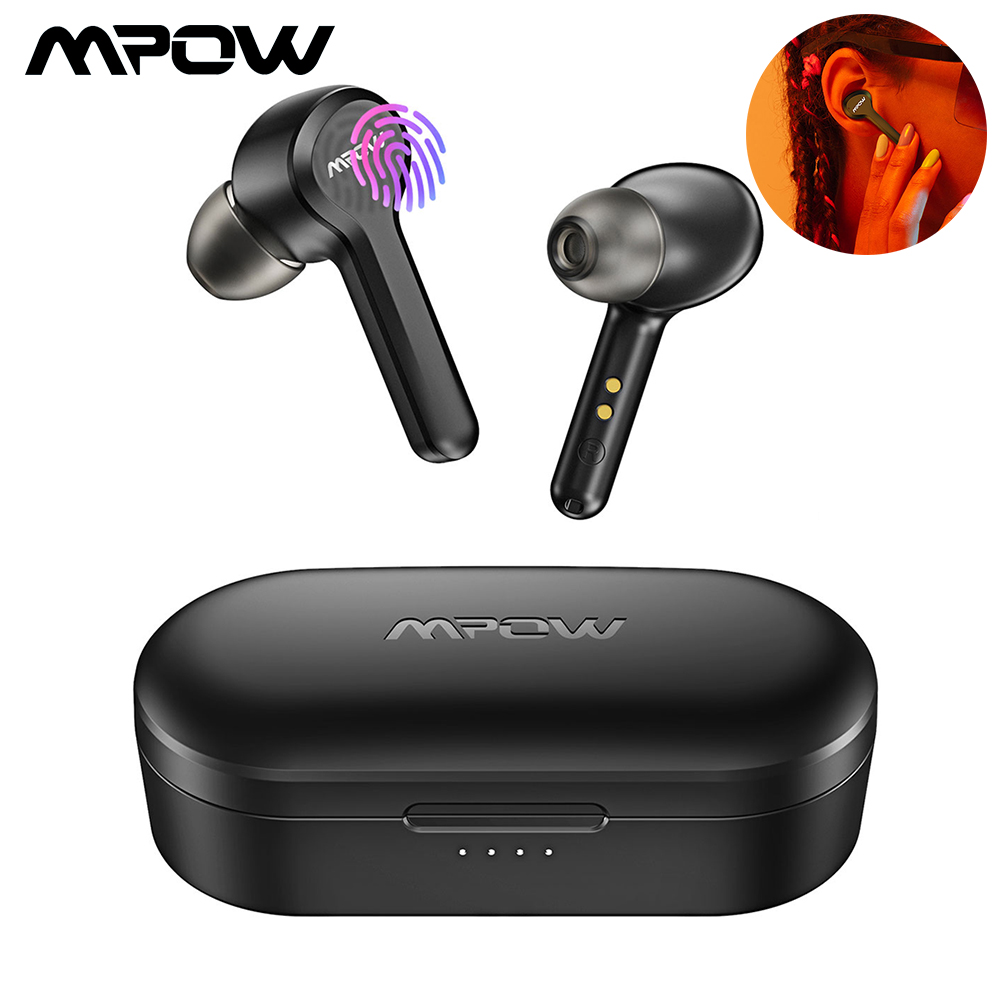 Mpow <font><b>M9</b></font> <font><b>TWS</b></font> Earphones Bluetooth 5.0 Wireless Headphones Touch Control IPX7 Waterproof 30H Playtime With Charging Case For Phone image