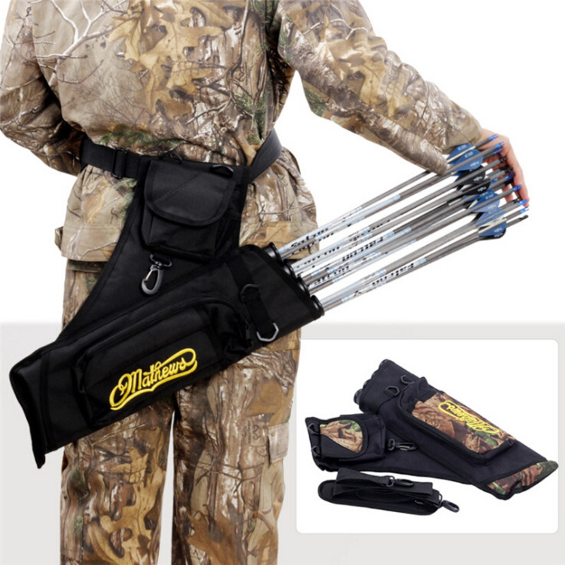Hunting Arrow bag <font><b>4</b></font> <font><b>Tubes</b></font> Arrow Quiver for Archery Hunting Arrows Holder Bag with Adjustable Strap hunting accessories image