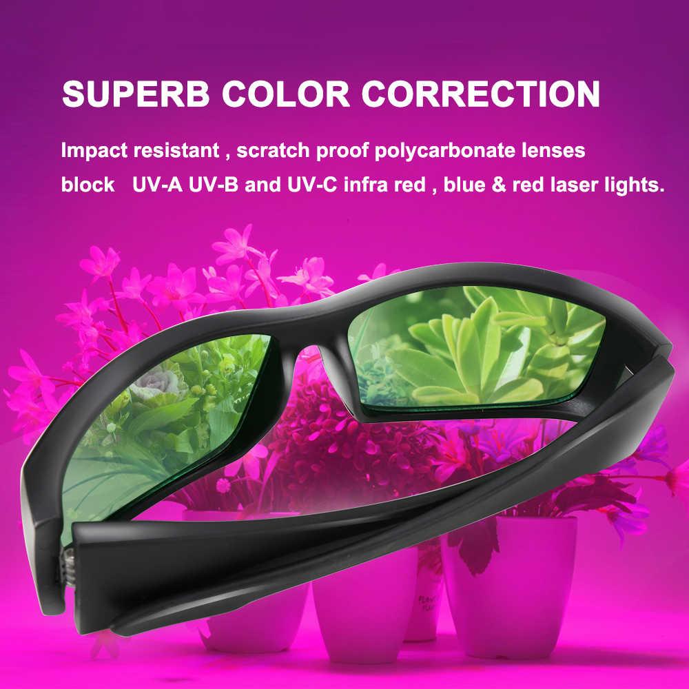 2 قطعة/الوحدة LED تنمو ضوء نظارات UV الاستقطاب نظارات للزراعة خيمة صندوق الدفيئة الزراعة المائية النباتات ضوء العين حماية نظارات