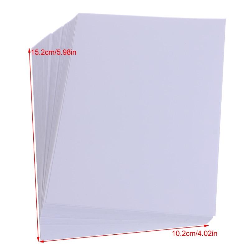 Купить с кэшбэком 100 Sheets Glossy 4R 4x6 Photo Paper For Inkjet Printer paper Supplies-PC Friend