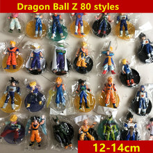 80 estilos gkresin 14 centímetros Dragon Ball Z Super Saiyan Goku vegeta Brolly Trunks Action Figure Coleção Modelo de freezer brinquedo de Presente(China)