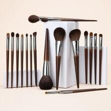 OVW Tự Nhiên Trang Điểm Bộ Phấn Mắt Trang Điểm Bàn Chải Lông Dê Bộ Trang Điểm Nabor Kistey Pha Trộn Pinceaux Maquillage