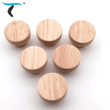 6/10/20/50PCS 38mm*25mm Furniture Handle Door Drawer Wood Pull Wardrobe shoe cabinet Handle Round Solid Wooden Cabinet Knob 10pcs lot solid european classic red bronze handle knob pull kitchen furniture wardrobe cabinet