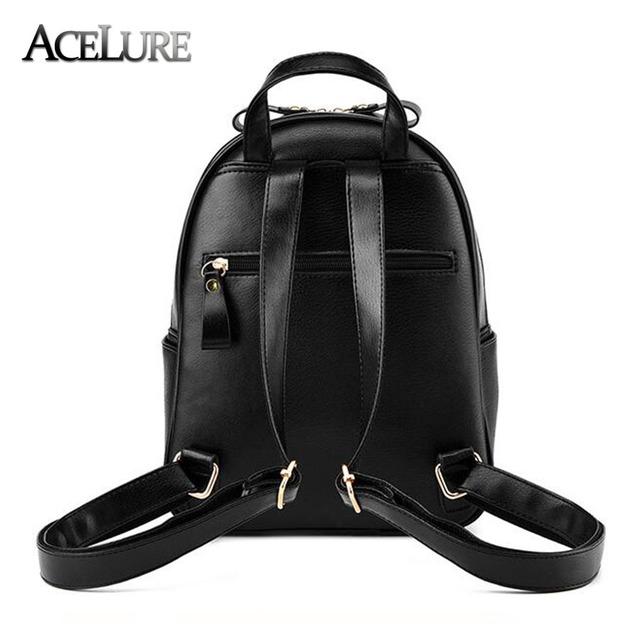 ACELURE Women Backpack Hot Sale Fashion Causal bags High Quality bead female shoulder bag PU Leather Backpacks for Girls mochila