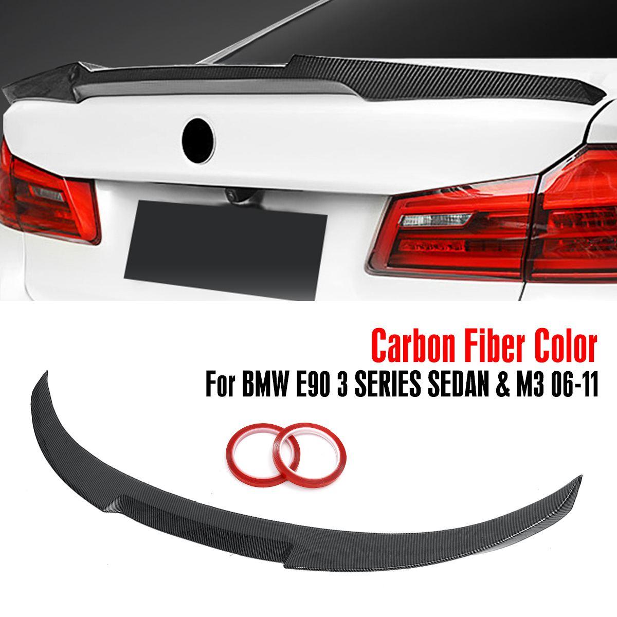 Style de Wing-M4 de spoiler de coffre d'abs de STYLE noir/fibre de carbone brillant pour 2006-2011 pour la berline de série de BMW E90 3 et M3 2008-12