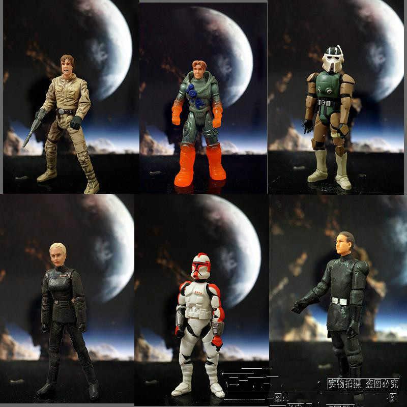 3.75 inç yıldız savaşları 1:18 Darth Vader beyaz asker anime aksiyon ve oyuncak figürleri model oyuncaklar çocuklar için