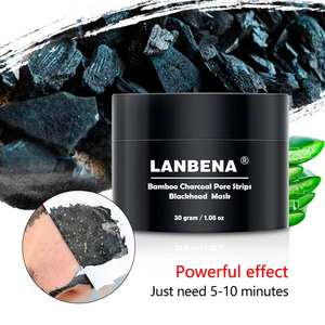 LANBENA Blackhead Remover Nose Mask Black Masks Peel Off Face Masks Acne Treatment Pimple Removal Pores Cleaning Strip Skin Care