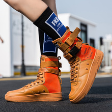 Hot Sale Fashion High Top Buckle Lovers Breathable Casual Motorcycle Sneakers Zapatillas Personality
