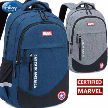 Marvel Disney school bag Captain America Spiderman ironman big capacity backpack primary middle school grade 3-9 for teenage boy - Category 🛒 All Category
