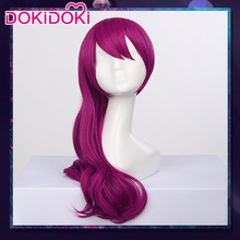 DokiDoki Game Cosplay Wig League of Legends K/DA Evelynn Women Long Purple Hair Heat Resistant