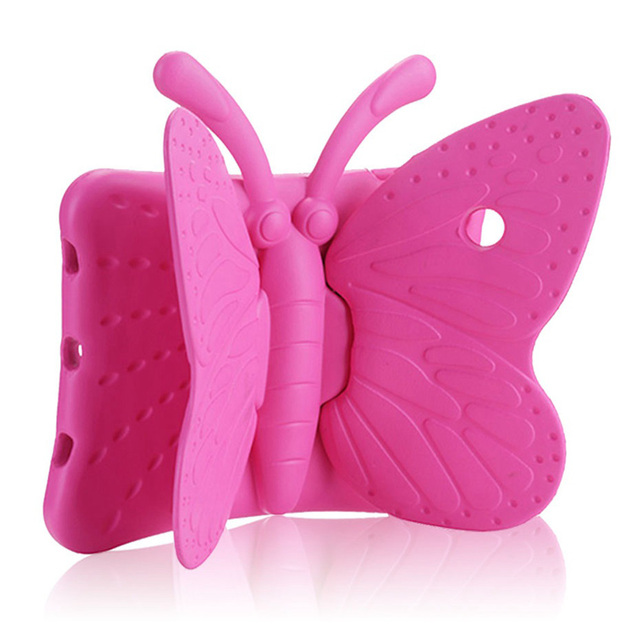 Case for ipad air /Air 2 / ipad pro 9.7 butterfly design EVA cover with stand Silicone para shell coque for ipad 2017 2018 case