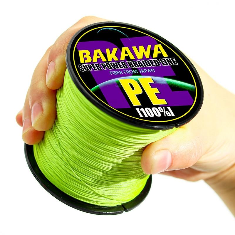 BAKAWA 4 плетеная леска Длина: 300 м/330yds диаметр: 0,2 мм-0,42 мм, размер: 10-85 фунтов Япония PE плетеная леска плавающая леска 3