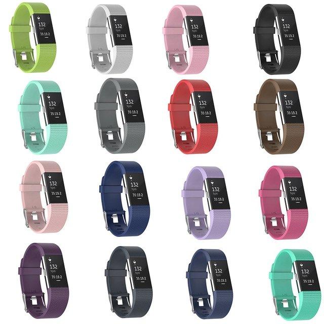 ONLENY Bracelet de montre Bracelet de remplacement Bracelet intelligent Bracelet en Silicone souple Bracelet de montre Bracelet pour Fitbit Charge 2 montre