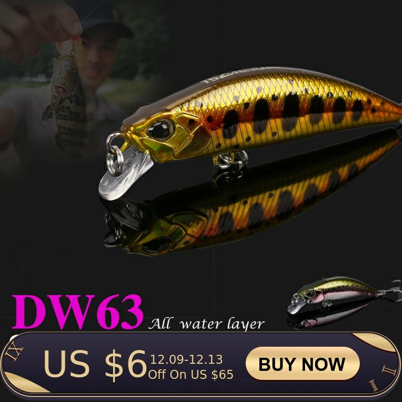 TSURINOYA DW63 Sinking Minnow Fishing Lure 50mm 5g 4pcs Full Swimming Layer Mini Minnow Hard bait Treble hook Artificial Bait