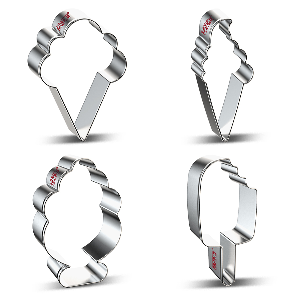 ZADE Summer Beach Cake Cookie Cutter Popsicle,Ice Cream ,Biscuit / Fondant / Pastry Cutter - Stainless Steel
