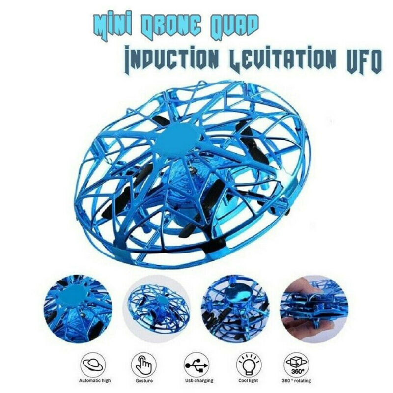 Flying Ball UFO Mini Drone Hand Control Quadcopter Infrared Induction Helicopter LED Indicator Toys Gifts For Kids Girls Boys