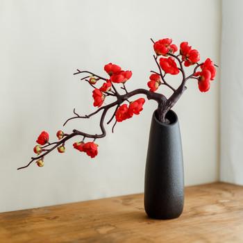 Sztuczne kwiaty kwiat śliwy chiński styl Chimonanthus Praecox kwiatowa domowa dekoracja ślubna kwiat śliwy sztuczny kwiat tanie i dobre opinie CN (pochodzenie) 1 pc Pulpit Jedwabiu TREE 24cm 33cm Plum tree Home garden wedding decorations and so on