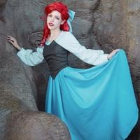 Women The Little Mermaid Princess Ariel Costume Role play Princess Ariel Fancy Blue dress Cosplay Dress any size