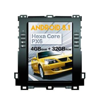 Tesla style Android 8.1 Car radio stereo for Toyota Land Cruiser Prado 120 2002 - 2009/ Lexus GX470 gps navigation no dvd player