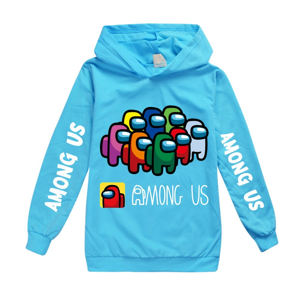 Kids Girls Boys Hoodies Children Yellow Blue Hooded Girls & Boys Sweatshirt Among us Kids Clothes for 6 8 10 12 14 16 Years 5