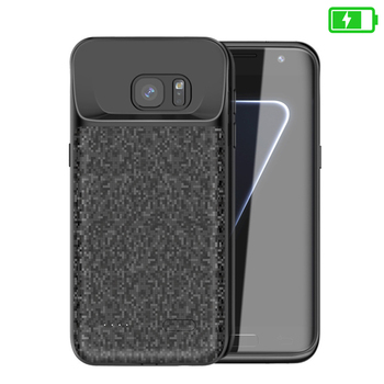 Battery charger Case For Samsung Galaxy S7 Soft Thin Power Bank Charger Charging Case external battery Case For Samsung S7 edge 6500mah ultra thin fast charger battery case for samsung note 8 external power bank case for samsung galaxy note 8 charging case