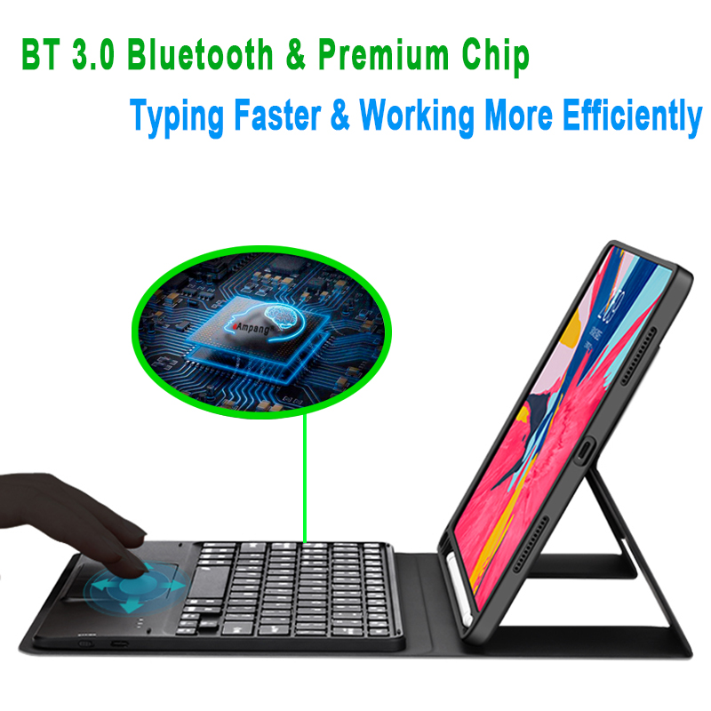 Backlit 7th A2232 10.2 8th 2019 Generation Keyboard For A2198 iPad Case A2200 Touchpad with