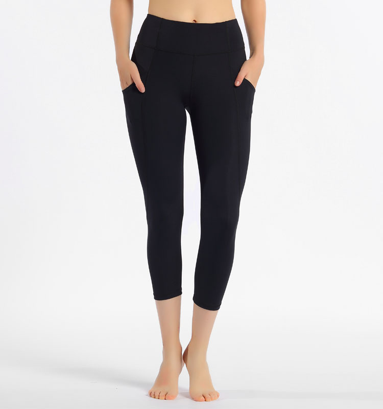 2020 Women Sports Pant With Pocktes Leggings Stretch Fabric Capris Fitness Leggings