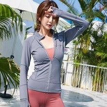 Yoga Jacket Sweat-absorbent Quick-drying Running Fitness Zipper Jacket Sexy Slim Long-sleeved Women's Shirt