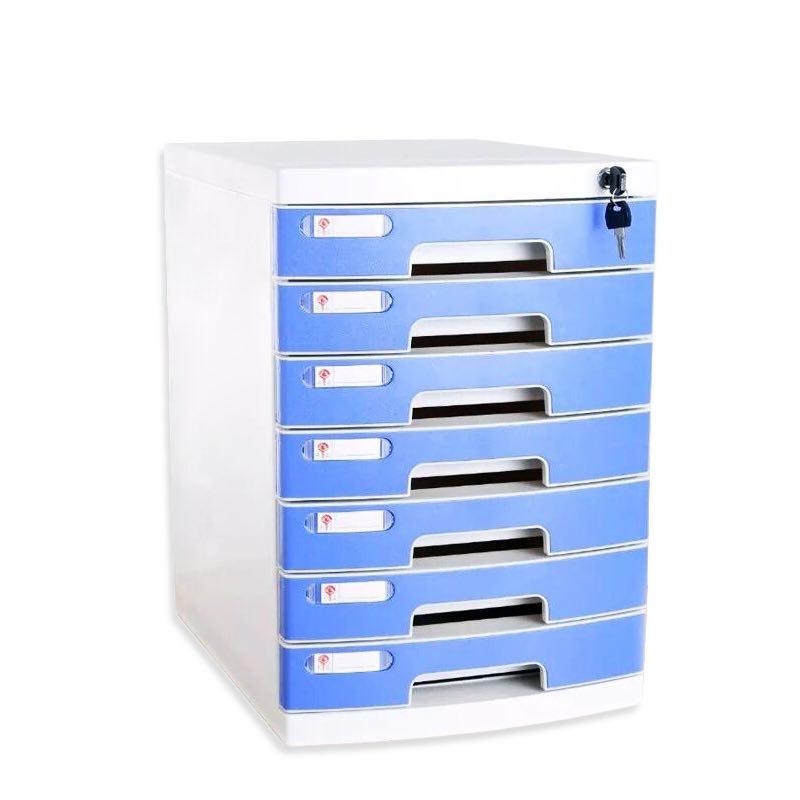 Desktop File Cabinet File Acceptance Box with Lock Drawer Type Data File Arrangement Box Acceptance Cabinet Thickened with Lock