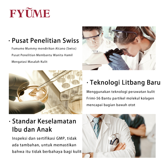 FYUME Maternity Bird's Nest Collagen Skin care products for pregnant women during lactation Cleanser+Toner+Lotion+Essence+Cream 4