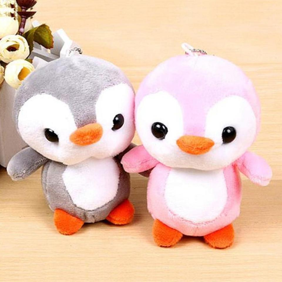 penguin winter stuffed plush doll ornament bag holder key chains new