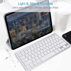 Image 3 - Ultra Slim Wireless Keyboard for Desktop Laptop Tabelt and For Apple iPad iPhone MacBook Android Windows PC Bluetooth Keyboard