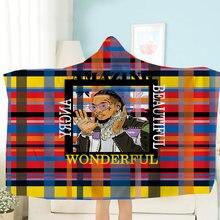 Модный тренд одеяло с капюшоном рок н ролл носимое для детей