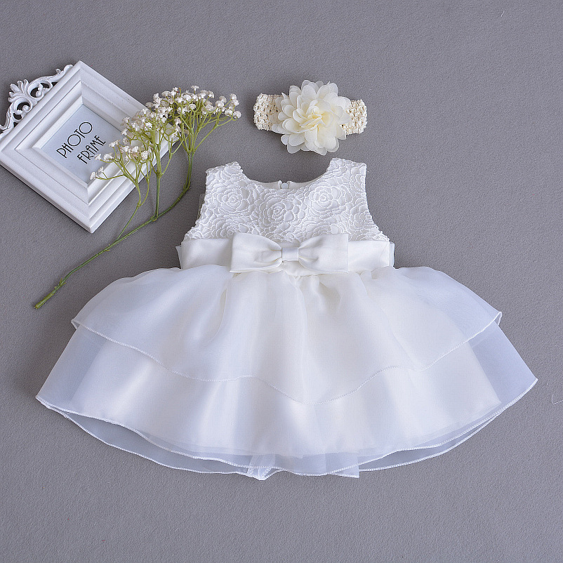 2018 Summer New Style Europe And America Baby Wash Formal Dress Infants Hundred Days A Year Of Age Flower Boys/Flower Girls Mesh