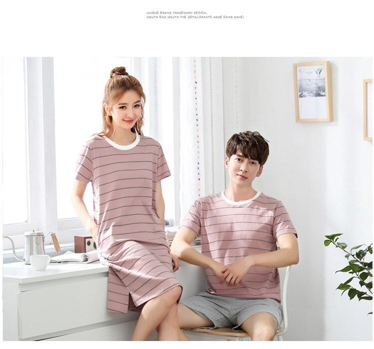 2020 verão manga curta algodão pijama conjunto