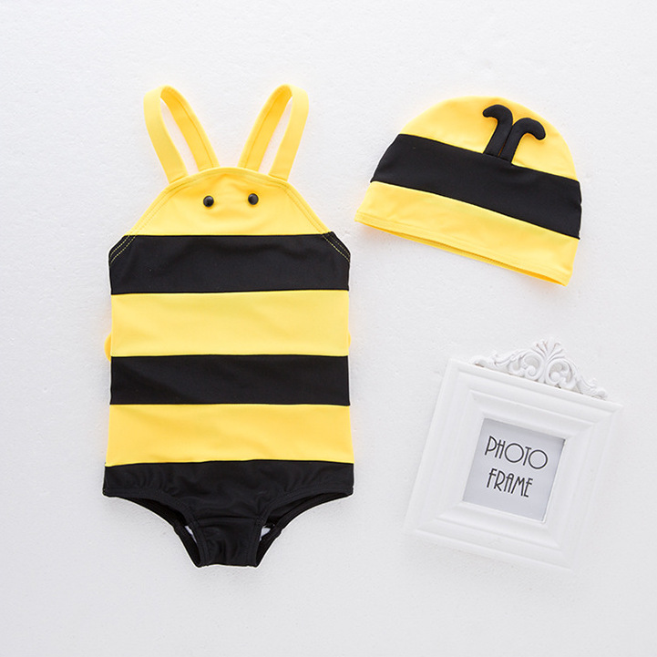 Special Approval ~ Super Cute Baby Small Bee Hot Springs Bathing Suit One-piece Swimming Suit Baby Bathing Suit Zhi Pi