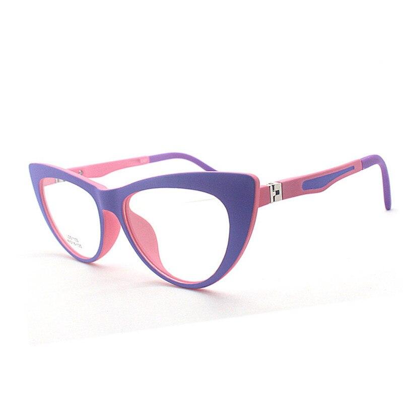 UltraLight Cat Eyes TR90 Frame Glasses Kids Eyeglasses For Girls Boys Computer Glasses  Myopia Optical Flexible Oculos De Sol