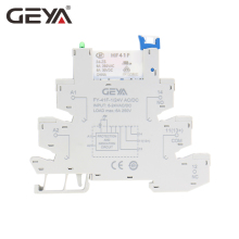 GEYA 6.2mm thickness Slim Relay Socket with Hongfa Relay 12VDC/AC or 24VDC/AC Plug Relay цена 2017