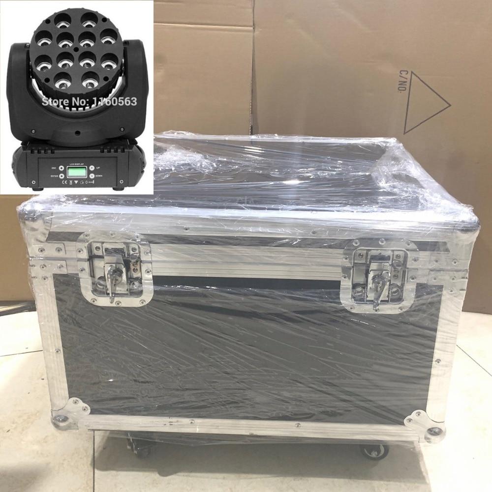 8pcs/Lot 12x12W Moving Head Light With Flight Case 150W LED Stage Lighting Light Dj Equipment 12x12W RGBW Led Wash Moving Head
