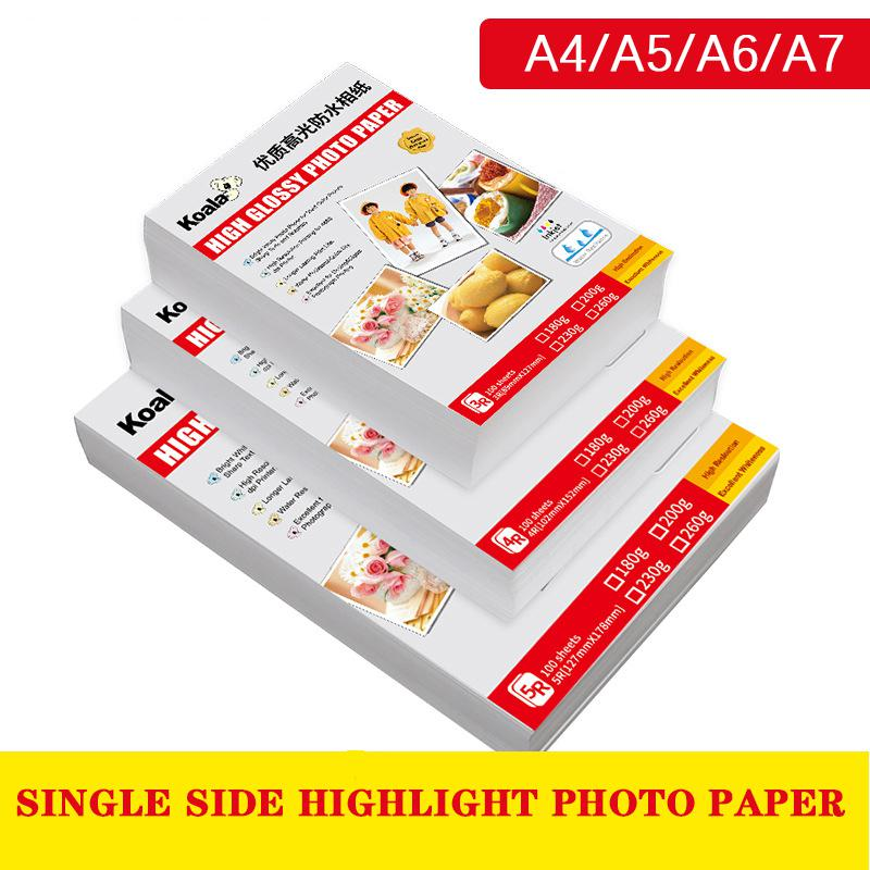 Direct Selling Koala Paper A4 High Quality Photo Paper Life Photo Studio Paper Business School Students Inch Photo Paper 180g