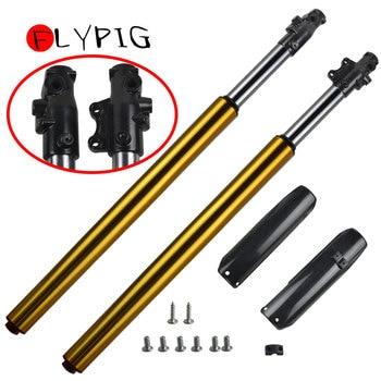 FLYPIG, nuevo, 1 par, Golden, boca abajo, 45 48 735mm, suspensión de horquilla delantera, ajuste CRF70 SSR 125-160cc, Pit Bike para APOLLO KLX TTR